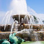 Buckingham Fountain In Chicago Poster