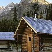 Cabin In Yoho National Park, Lake Poster
