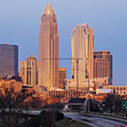 Charlotte Skyline At Sunrise Poster