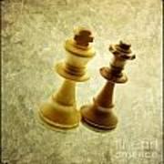 Chess Pieces Poster by Bernard Jaubert