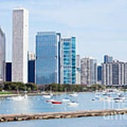 Chicago Skyline Lakefront Poster by Paul Velgos
