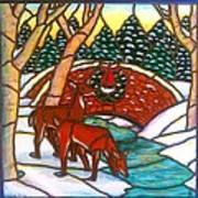 Christmas Bridge Poster