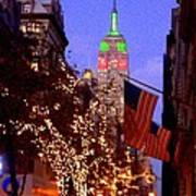 Christmas In New York Poster