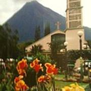 Church Nestled In The Mountains Poster