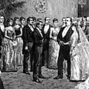 Cleveland Wedding, 1886 Poster