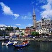 Cobh Cathedral & Harbour, Co Cork Poster