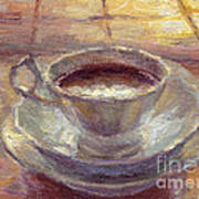Coffee Cup Still Life Painting Poster