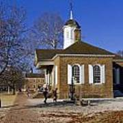 Colonial Williamsburg Courthouse Poster