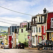 Colorful Houses In Newfoundland Poster