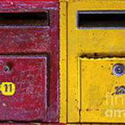 Colorful Mailboxes Poster