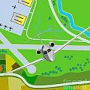 Commercial Jet Plane Poster by Aloysius Patrimonio