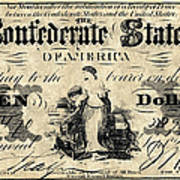 Confederate Banknote Poster
