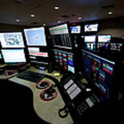 Control Room Center For Emergency Poster
