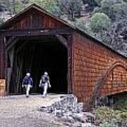 Covered Bridge Walkers Poster