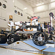 Curiosity Rover In The Testing Facility Poster