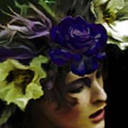 Dark Wood Nymph Poster by Jill Balsam