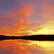 Dawn Jackson Hole Lake Poster
