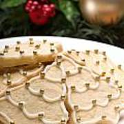 Decorated Cookies In Festive Setting Poster