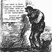 Depression Cartoon, 1932 Poster