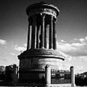Dugald Stewart Monument Calton Hill Edinburgh Scotland Uk United Kingdom Poster