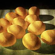 Eggs Lit Through Venetian Blinds Poster