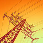Electricity Power Lines Poster