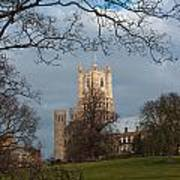 Ely Cathedral In City Of Ely Poster