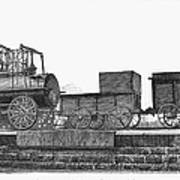 English Locomotive, 1825 Poster