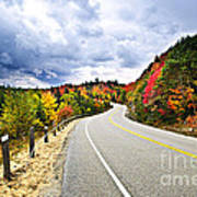 Fall Highway Poster