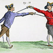 Fencing, 18th Century Poster