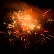 Firework Display At New Year's Eve Poster