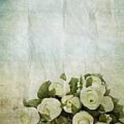 Floral Pattern On Old Paper Poster