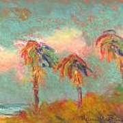 Folly Beach Wind Blown Poster