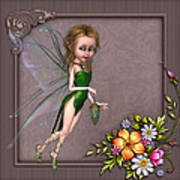 Forest Fairy In The Garden Poster