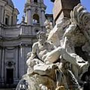 Fountain. Piazza Navona. Rome Poster