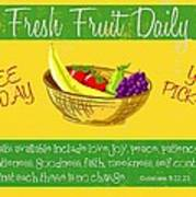 Free Fruit Poster by Greg Long