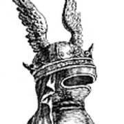 French Medieval Helmet Poster