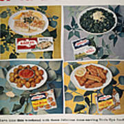 Frozen Food Ad, 1957 Poster