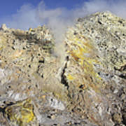 Fumaroles With Sulphur Deposits. Flank Poster
