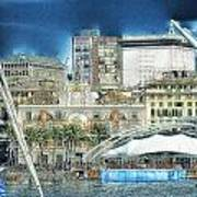 Genova Expo Area With Saint George Building Poster