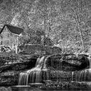 Glade Creek Grist Mill At Babcock Poster