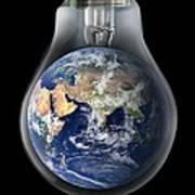 Global Warming, Conceptual Image Poster by Victor De Schwanberg