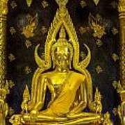 Golden Buddha  Poster by Anek Suwannaphoom