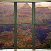 Grand Canyon Springtime Bay Window View Poster