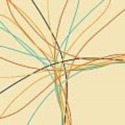 Graphic Line Pattern Poster by Setsiri Silapasuwanchai