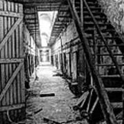 Grim Cell Block In Philadelphia Eastern State Penitentiary Poster