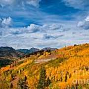 Guardsman Pass In The Fall Poster