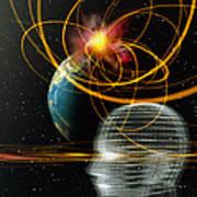 Head In Space Poster by Mehau Kulyk