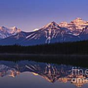 Herbert Lake Sunrise Poster