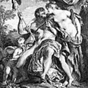 Hercules And Omphale Poster